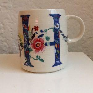 """H"" - Petal Palette Monogram Mug"